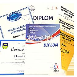 Diplomy / certifikáty / osvědčení